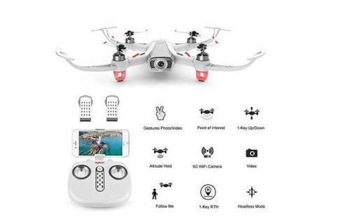 elementdigital syma w1 smart rc drone gps 5g wifi fpv with 1080p hd camera gestures photo video 1