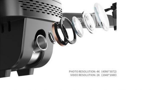 geekbuying visuo zen k1 4k 5g wifi fpv gps foldable rc drone three battery 802039