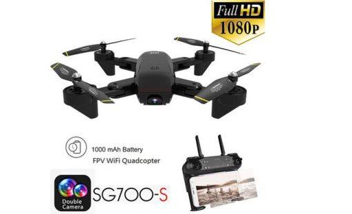 sg700 s 2 4ghz 4ch wide angle wifi 1080p optical flow dual camera rc quadcopter